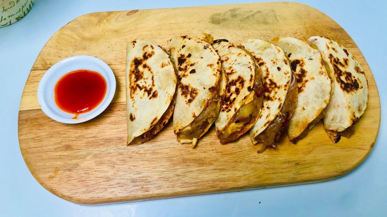 අවන් නැතුව වෙනස්ම රසකට ගෙදර තියන දේවල් වලින් හදන ටාකෝස් 🤗| Quick & Easy Potato Tacos recipe