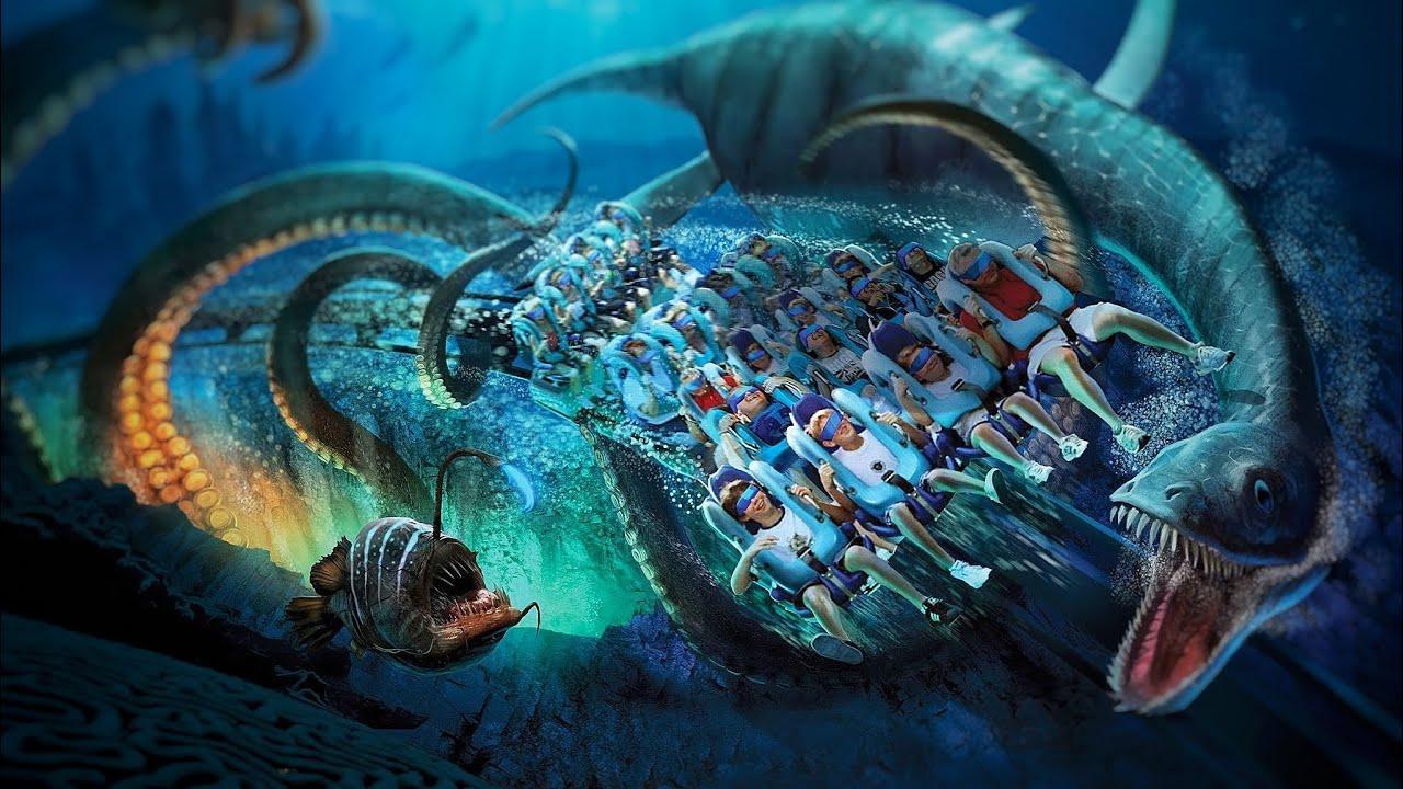 Download KRAKEN unleashed extreme Roller Coaster VR 180 3D | VR onride POV SeaWorld Orlando Oculus Go Quest