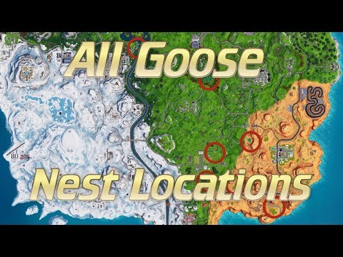Fastest Route For All Goose Nest Locations! - (Fortnite Battle Royale)