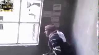 Syria War 2013   FSA Fighter Spends Too Long Looking Out The Window HEADSHOT