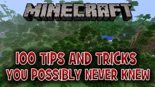 100 Tips & Tricks In Minecraft You Possibly Never Knew