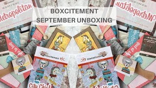 Boxcitement September Stationary / Jewellery / Homeware Subscription Box Unboxing