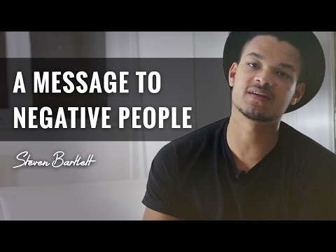 A Message To Negative People
