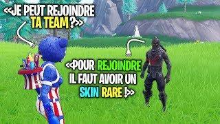 """Pour REJOINDRE cette Team """"PRO"""" Fortnite, il m'a fallut avoir un SKIN """"RARE""""..."""