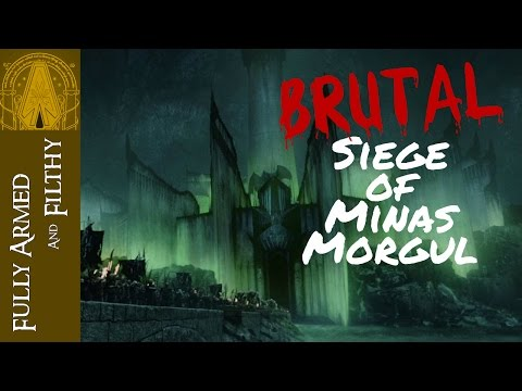 BRUTAL Siege of Minas Morgul Part 1 - LOTR BFME 2 1.09