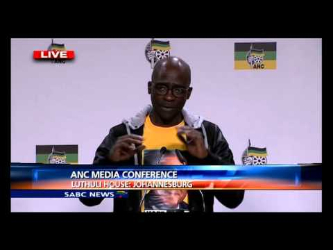 ANC Press Briefing at Luthuli House Part 1