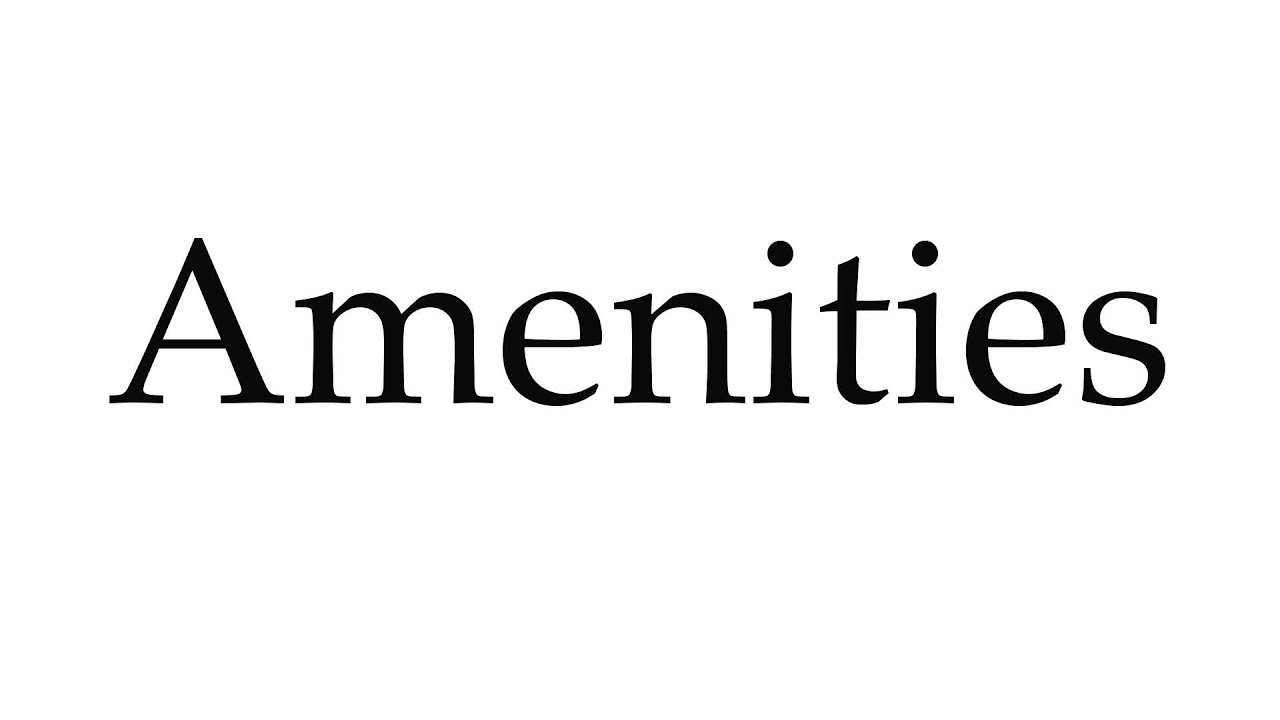 How to Pronounce Amenities