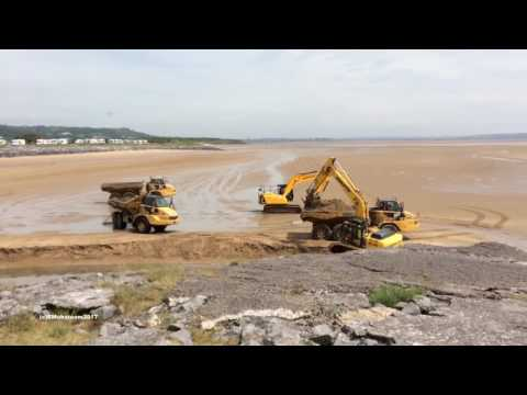 Clearing Sand Banks Burry Port Harbour 28 05 2017