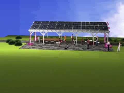 solar patio cover gazebo