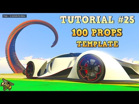 GTA 5 Tutorial #25 - 100 PROP TEMPLATE - HOW TO MOVE ENTIRE STUNT ( GTA V Content Creator )
