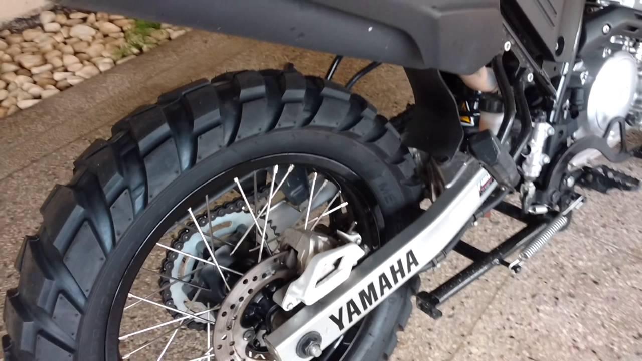 Tenere 250 pneu largo 150 e 110 youtube - Pneu 3 50 8 ...