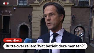 TERUGKIJKEN: Rutte veroordeelt 'crimineel geweld'