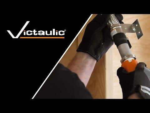 VicFlex™ Dry Sprinkler Style VS1 Balcony Horizontal Sidewall Installation