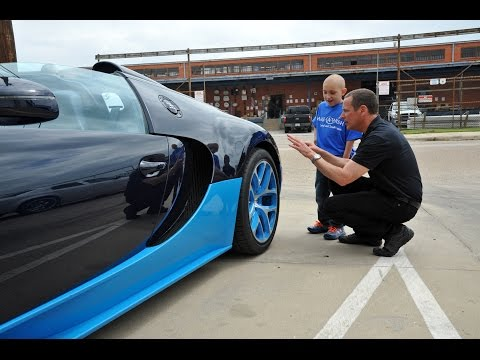 Make-A-Wish gave this great kid the Bugatti ride of his life