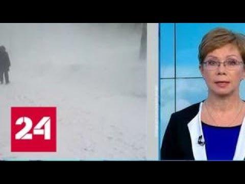 """""""Погода 24"""": Сибирь разделилась на замерзающие и заснеженные регионы - Россия 24"""