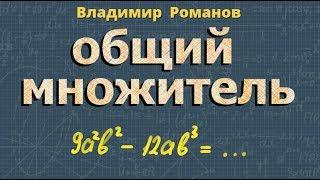 алгебра ВЫНЕСЕНИЕ ОБЩЕГО МНОЖИТЕЛЯ ЗА СКОБКИ 7 класс