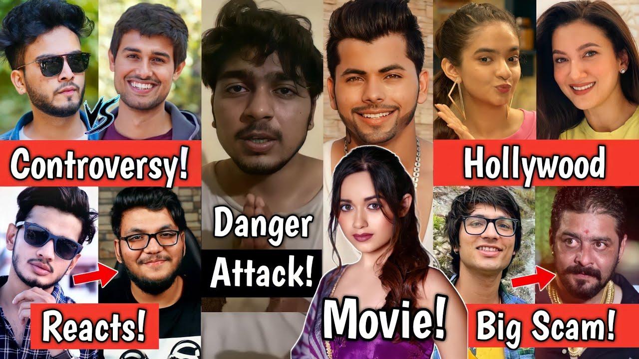Attack On Youtuber Navneet Bhardwaj! Jannat Zubair and Siddharth Movie! Elvish Yadav vs Dhruv Rathee