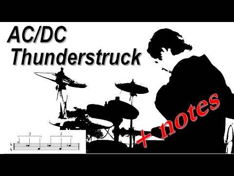 ACDC Thunderstruck drum  with notes