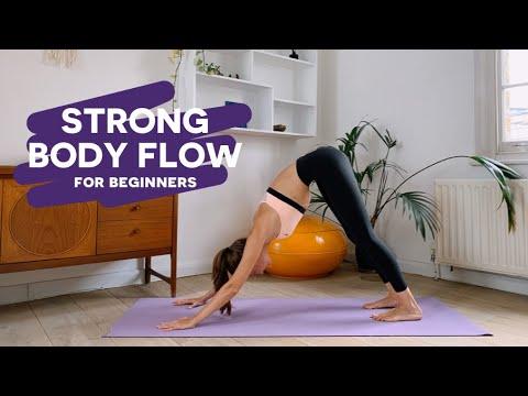 strong body vinyasa flow for beginners  full body yoga