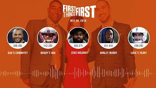 First Things First audio podcast(7.29.19)Cris Carter, Nick Wright, Jenna Wolfe | FIRST THINGS FIRST