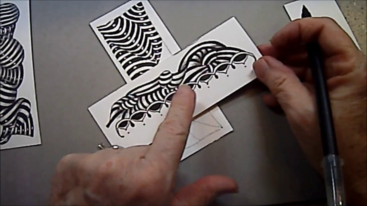 Striping Tangle Lesson Pattern #162 - YouTube