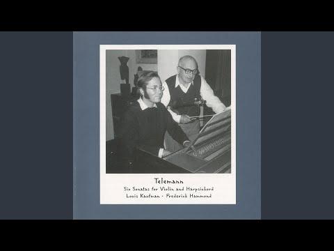 Violin Sonata No. 4 in G Major, TWV 41:G1: I. Largo