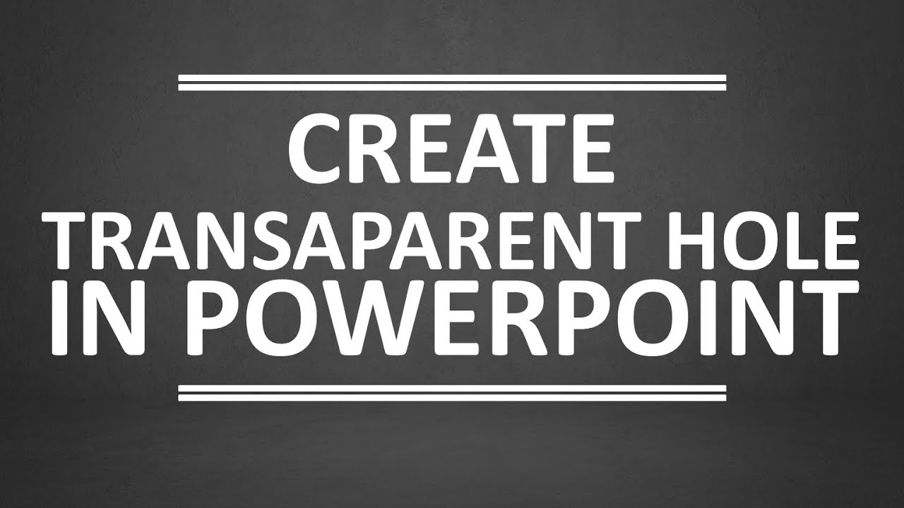 how to make a video transparent in powerpoint