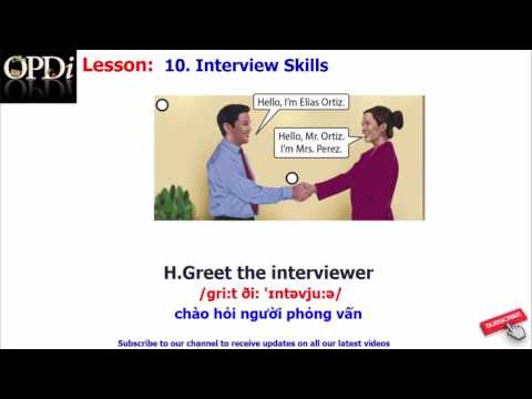 Oxford dictionary - 10. Interview Skills - learn English vocabulary with picture