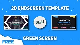 (FREE) 2D Endscreen Template (Green Screen) - After Effects, Sony Vegas, Blender, Android #5