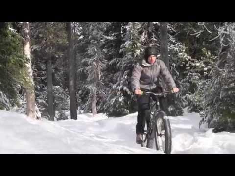 Fat biking snow in Bend, Oregon (Zach's Outdoors)
