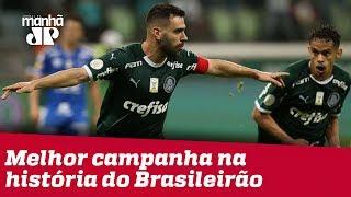 Palmeiras faz sua melhor campanha na história do Brasileirão, mas disputa com um grande Flamengo