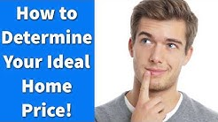How to Determine Your Ideal Home Price!