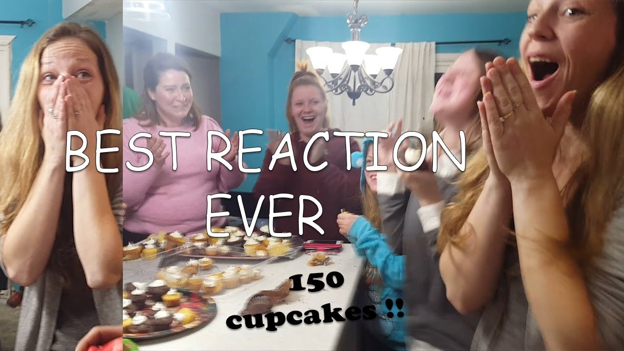 Gender Reveal On Christmas With 150 Cupcakes Best Reaction