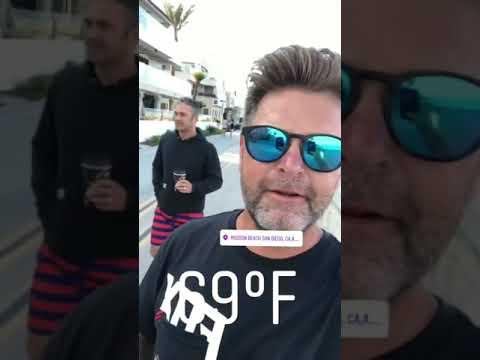 Taylor Kinney with friend Johnny  San Diego California  Sunday 6 August 2017