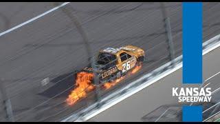 Fire, wrecks & a big winner | NASCAR Trucks Series extended highlights from Kansas Speedway