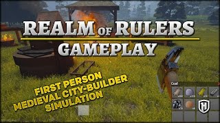 First Person, Medieval City-Building-Esque Sim | Realm of Rulers Gameplay #1
