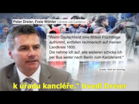 Landshutský zemský rada Peter Dreier hrozí Merkelové