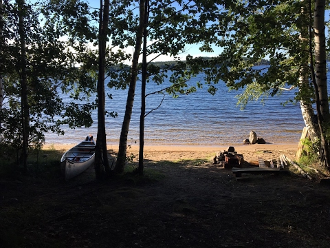 Bushcraft canoe trip Finlande