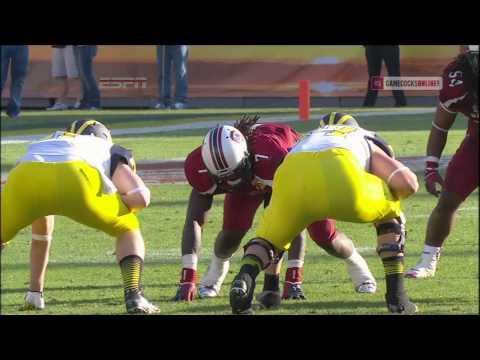 Jadeveon Clowney Hit vs. Michigan - Outback Bowl