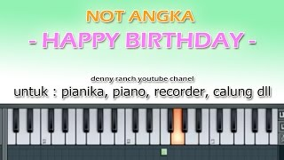 NOT ANGKA - TRADITIONAL HAPPY BIRTHDAY - denny ranch youtube chanel