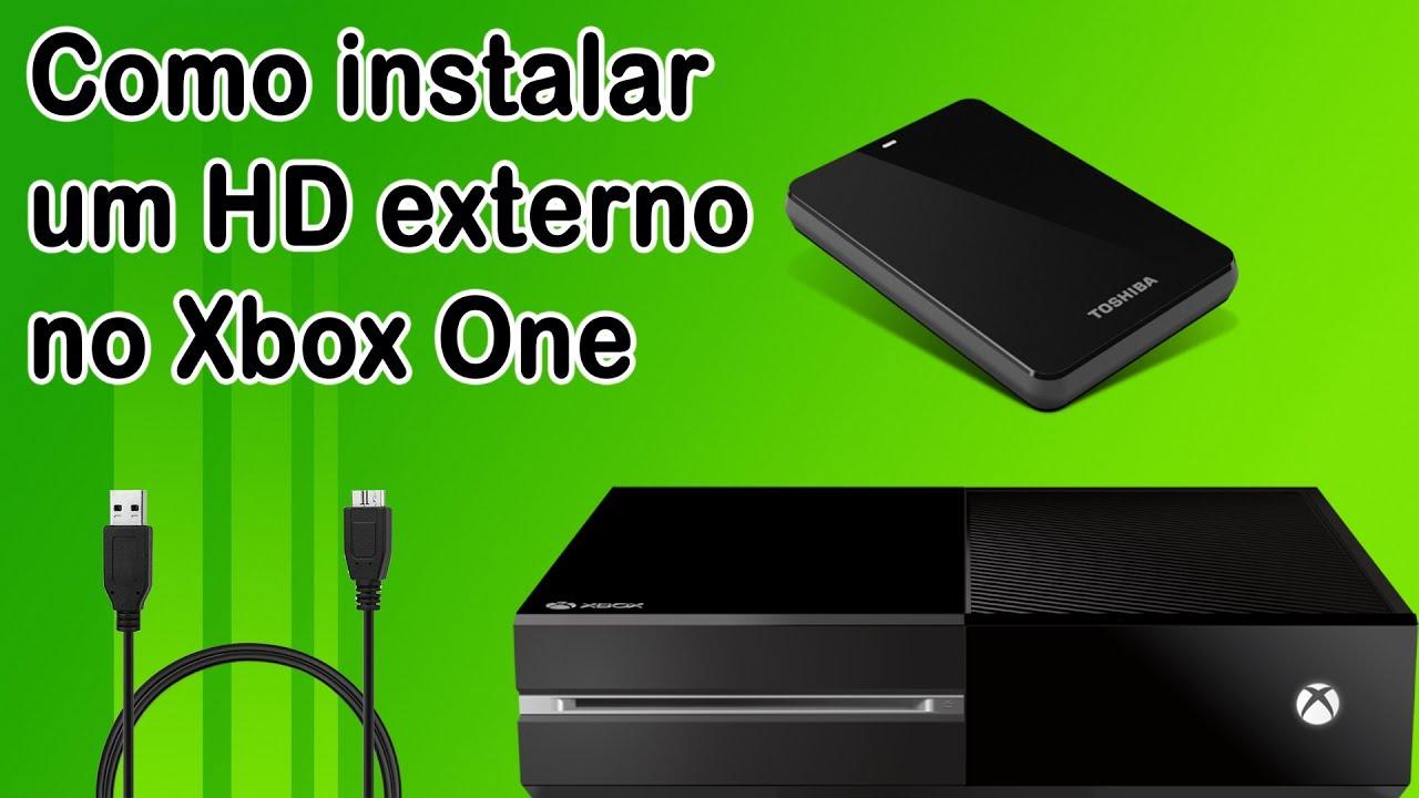Como instalar um hd externo no xbox one youtube for Ssd esterno xbox one