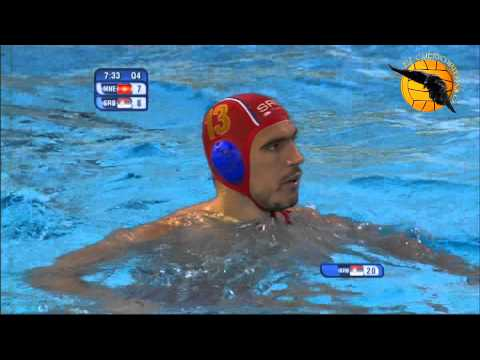 Montenegro 9 Serbia 8 4f World Champs Barcelona 2013 30 7 13 water polo