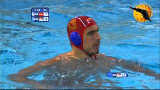 Montenegro 9 Serbia 8 4f World Champs Barcelona 2013 30 7 13 water polo