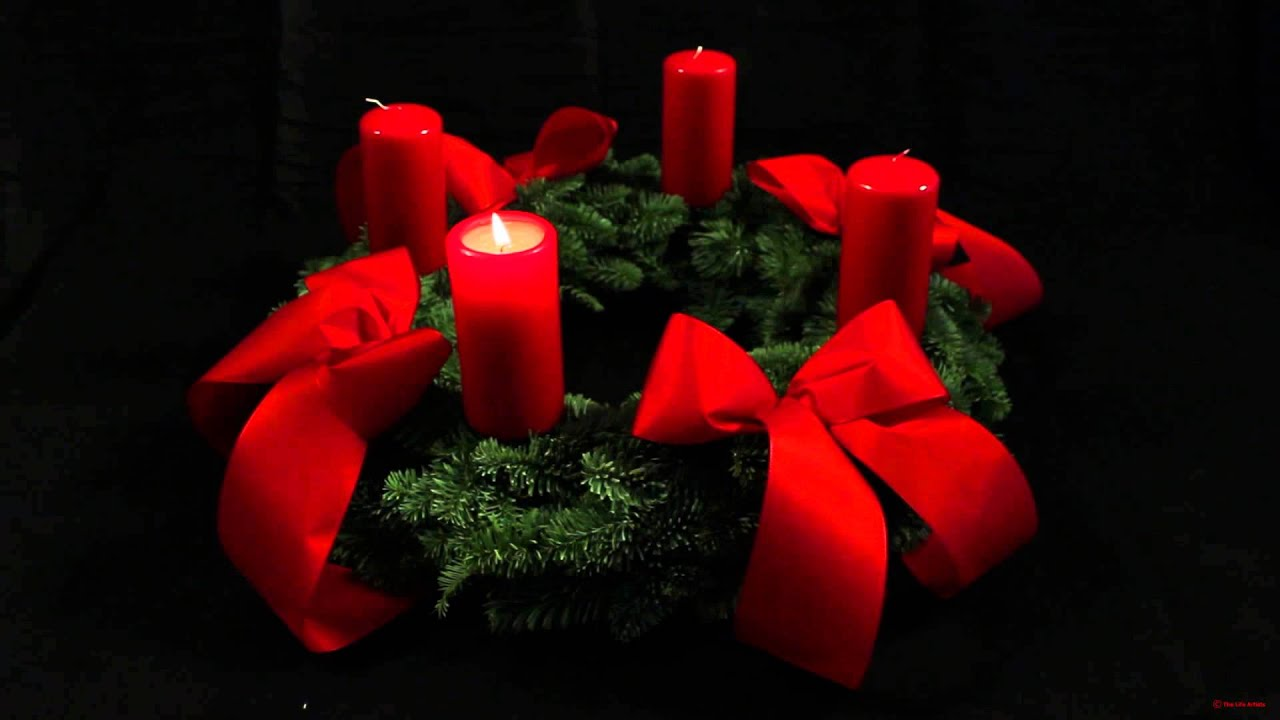 1st advent wreath german adventskranz with one candle. Black Bedroom Furniture Sets. Home Design Ideas