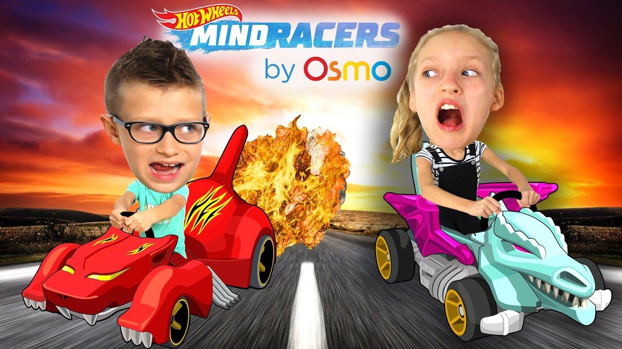 Sis Vs Bro Osmo Hot Wheels Mindracers Challenge Youtube