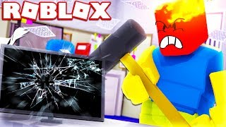 ROBLOX RAGE SIMULATOR! *ANGRIEST PLAYER QUITS ROBLOX*