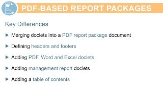 Working with PDF-Based Report Packages video thumbnail