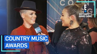 P!nk Gushes Over Performing With Chris Stapleton at 2019 CMAs | E! Red Carpet & Award Shows