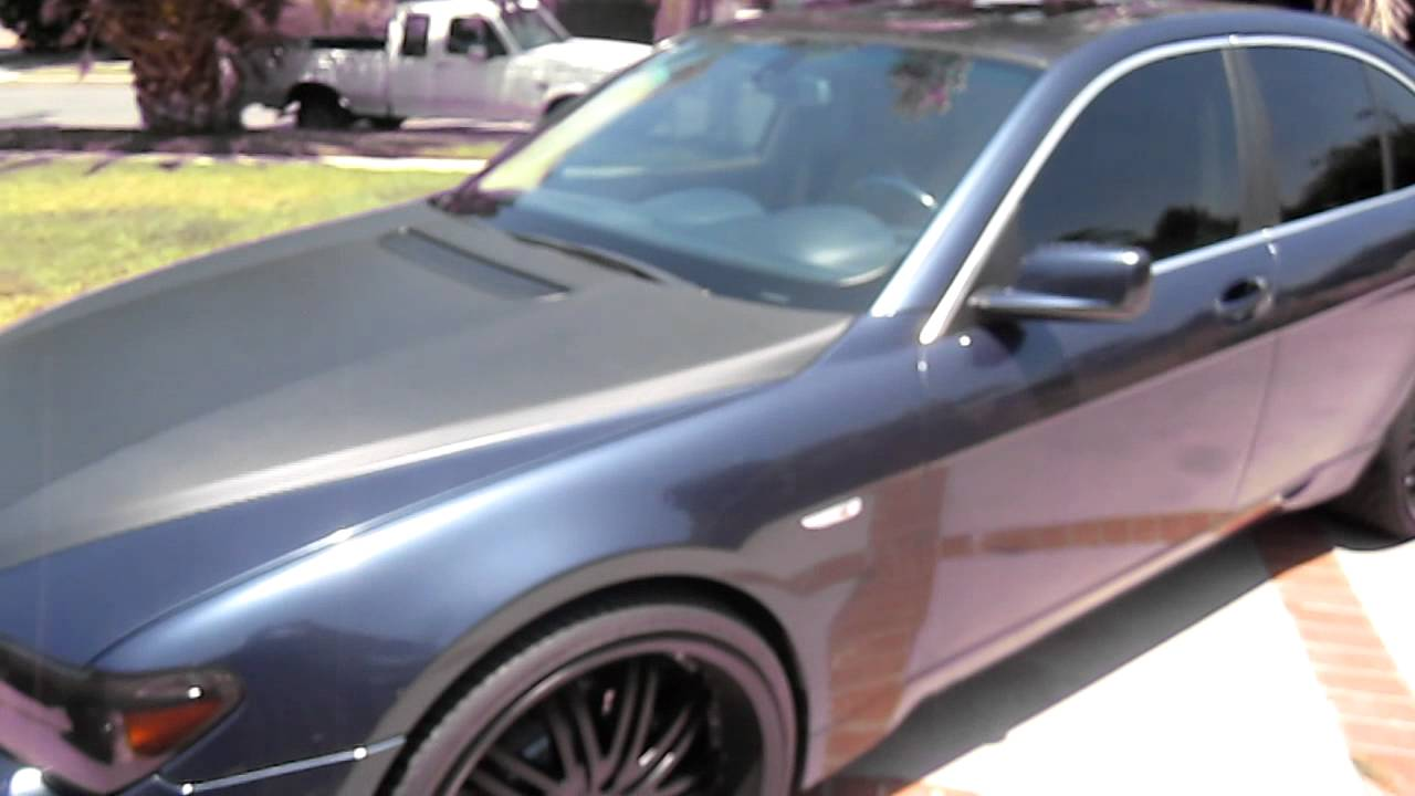 Bmw 745i Blacked Out With 24s Youtube