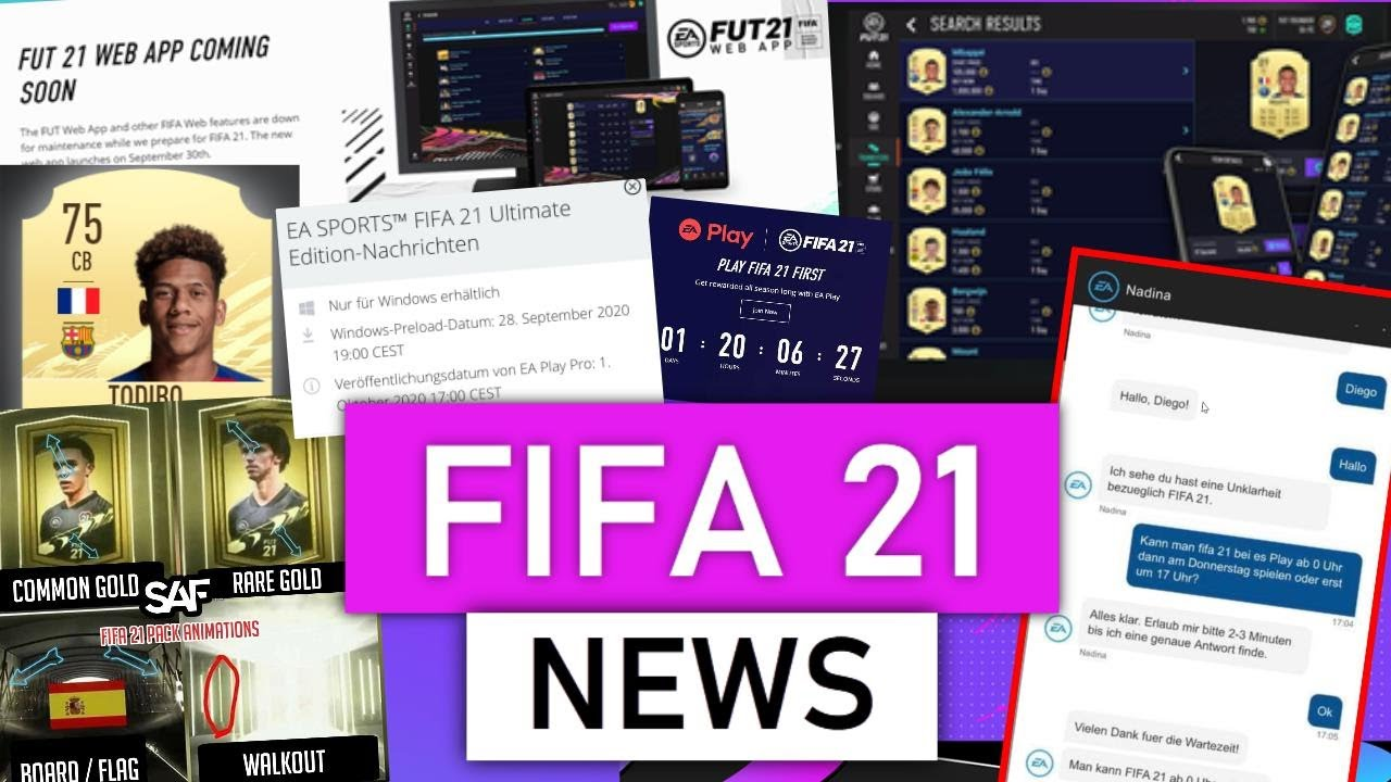 FIFA 21 EA Play release date, start time news for PS4 and Xbox ...
